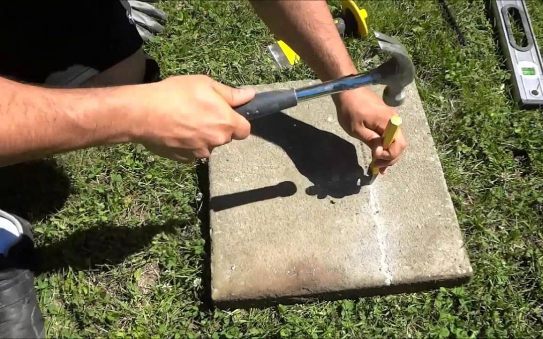Cutting Paving Stones For Concrete Driveway