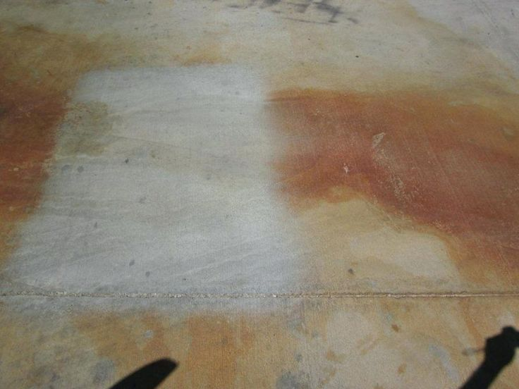 Removing Rust Spot From A Driveway: How To Do It